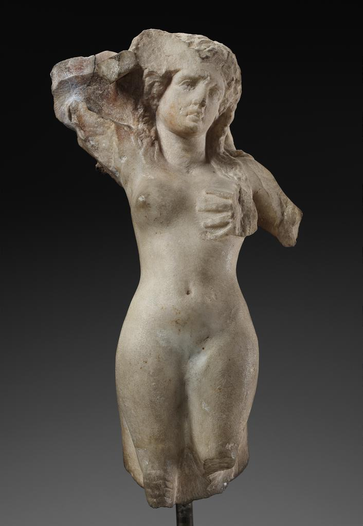 Weeping Siren, Greek, made in Athens, about 350–325 BC, marble. Museum of Fine Arts, Boston. Francis Bartlett Donation of 1900, 03.757. Photograph © 2018 Museum of Fine Arts, Boston