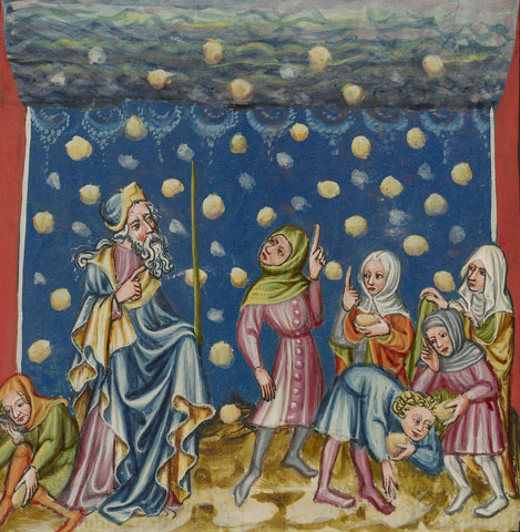 The Israelites Collecting Manna from Heaven, from World Chronicle