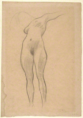 Floating Woman with a Hanging Arm and an Outstretched Arm / Klimt