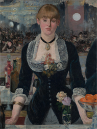 Bar at the Folies-Bergere (detail) / Manet