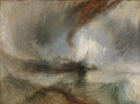 Snow Storm - Steam-Boat off a Harbour's Mouth / JMW Turner