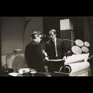 Unknown / David Tudor and Karlheinz Stockhausen in New York for performances of Refrain and Kontakte