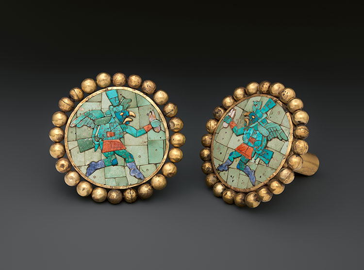 Pair of Earflares, Winged Messengers