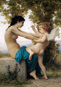 Young Girl and Eros / Bouguereau