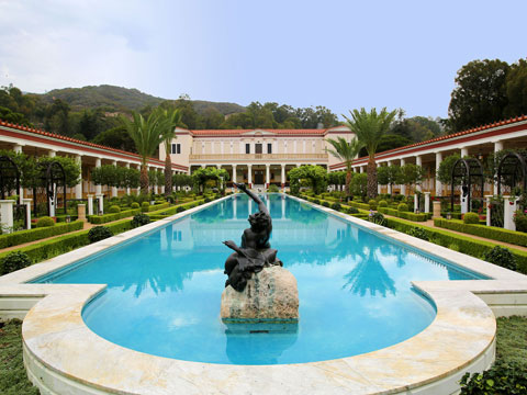 View of the Getty Villa