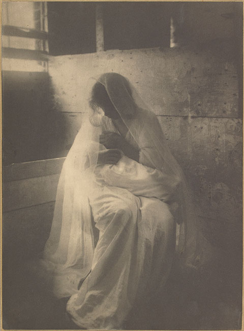 The Manger (Ideal Motherhood), 1899, Gertrude Käsebier, platinum print. The J. Paul Getty Museum