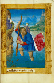 St. Christopher Carrying Christ Child / M. Guillaume Lambert
