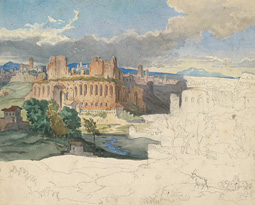 The Ruins of the Imperial Palaces in Rome / Carl Rottmann