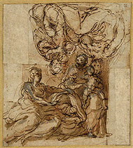 Studies: Holy Family / Parmigianino