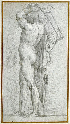 Nude Man Carrying a Rudder on His Shoulder / Titian