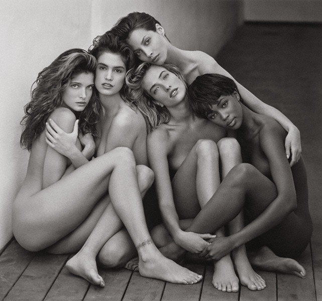 Stephanie, Cindy, Christy, Tatjana, Naomi, Hollywood  / Ritts