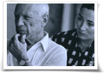 Picasso with his wife / Liberman
