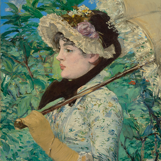 Jeanne (Spring) (detail), 1881, Édouard Manet. Oil on canvas. The J. Paul Getty Museum