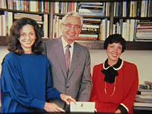 Nancy Englander, Harold M. Williams and Leilani Lattin Duke during the