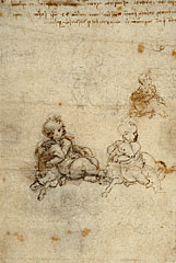 Studies of an Infant with Lamb / da Vinci