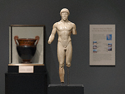 Statue of a Kouros (The Agrigento Youth) at the Getty Villa