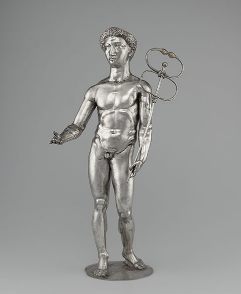 Mercury, Roman, A.D. 175-225; silver and gold