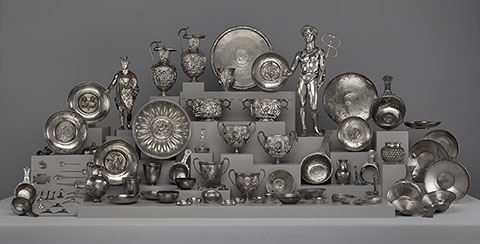 The Roman silver treasure dedicated to Mercury, found at Berthouville in 1830