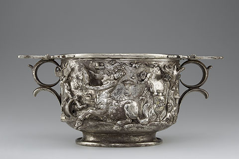 Cup with Centaurs (detail), Roman, A.D. 1-100; silver and gold
