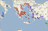 See ancient Greek theaters on a Google map