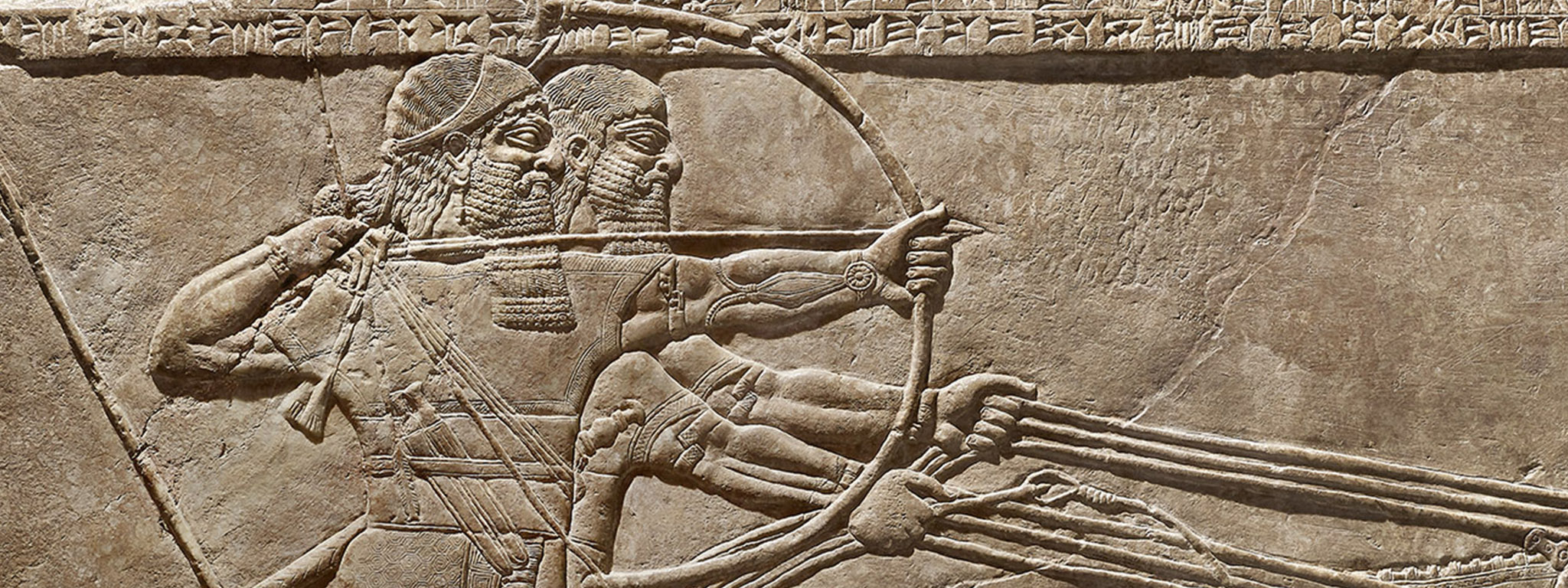 Royal Lion Hunt (detail), Assyrian, 875–860 BC, Kalhu (Nimrud), Northwest Palace, reign of Ashurnasirpal II, gypsum. British Museum, London, 1849,1222.8, 1849. Image © The Trustees of the British Museum. All rights reserved