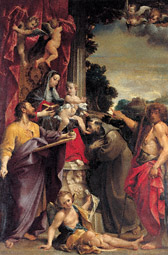 Madonna Enthroned with Saint Matthew / Annibale Carracci