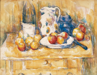 Still Life with Applies on a Sideboard / Cézanne