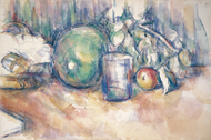 Still Life with Green Melon / Cézanne