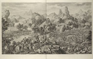 The battle at Oroi-jalatu (Elei zhalutu zhi zhan) / Le Bas after Castiglione