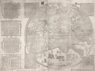 Complete map of the world (Kunyu quantu), detail / after Verbiest
