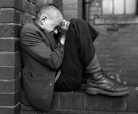 Youth on a Wall, Jarrow, Tyneside, negative 1976; print 1986, Chris Killip, gelatin silver print.