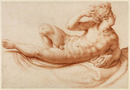 Reclining Male Nude / Salviati