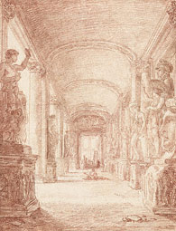A Draftsman in the Capitoline Gallery / Robert