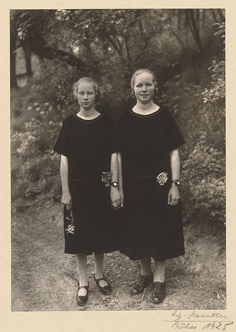 Country Girls, 1925, August Sander, gelatin silver print. The J. Paul Getty Museum.