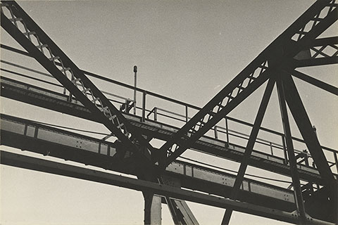 Girders with Walkway, about 1935-1940, Ralston Crawford, gelatin silver print. The J. Paul Getty Museum. © Ralston Crawford Estate