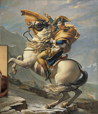 Bonaparte Crossing the Alps / David