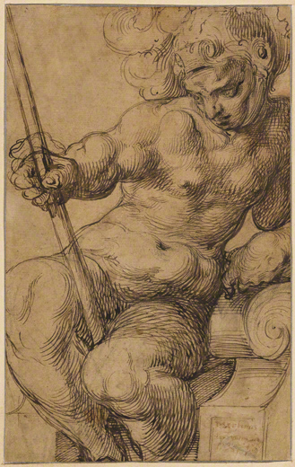 Nude Warrior Leaning on a Volute / Dubreuil