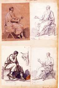 Seated Male Figures / David
