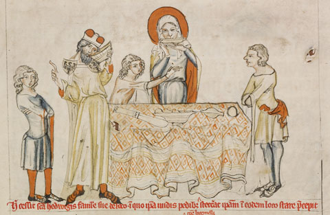 Saint Hedwig Refusing to Drink Wine; Saint Hedwig Praying before an Altar