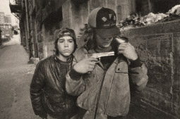 'Rat' and Mike with a Gun, Seattle / Mark