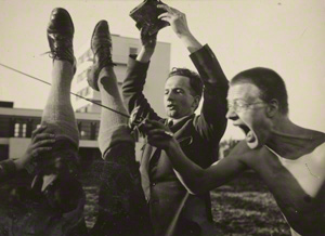 Untitled (Georg Hartmann and Werner Siedhoff with Other Students / T. Lux Feininger