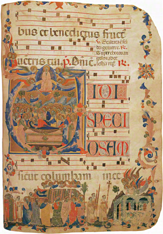 Page from an antiphonary / Master of the Dominican Effigies
