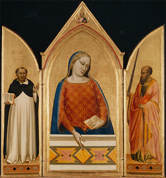 Madonna, Saint Thomas Aquinas, and Saint Paul / Daddi