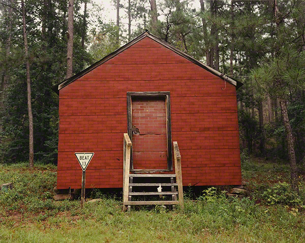 Red Building in Forest, Hale County