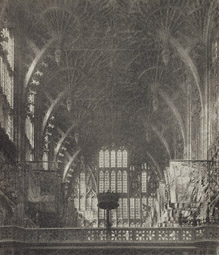 Westminster Abbey: Chapel of Henry VII, Roof of Fan Tracery Vaulting / F. Evans