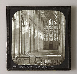 Winchester Cathedral: The Nave, West / F. Evans