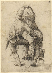 Dancing Peasant Couple / Urs Graf