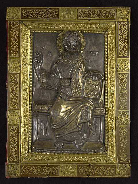 Christ in Majesty, sacramentary, Mainz or Fulda, about 1047; binding about 1150 and later.