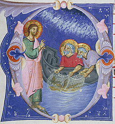 Initial D: the calling of Saints Peter and Andrew, Master of Gerona