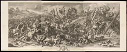 Battle at the Milvian Bridge / Audran, Le Brun